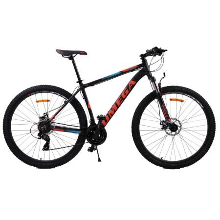 "Bicicleta Mountainbike Omega Thomas 29"" Negru / Albastru / Portocaliu"
