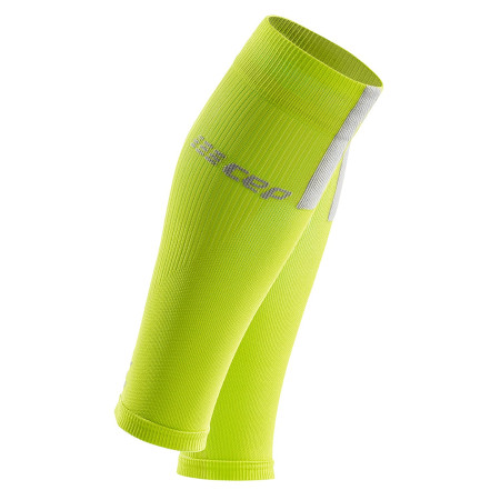 Compresii Gamba Barbati Cep Compression Calf Sleeves 3.0 Lime Light Grey