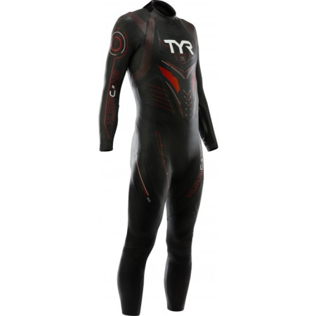 Costum Neopren Triatlon Barbati Tyr Hurricane Cat.5 Black/Red