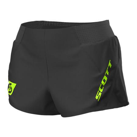 Pantaloni scurti Femei Alergare Scott RC Run Split Negru / Galben