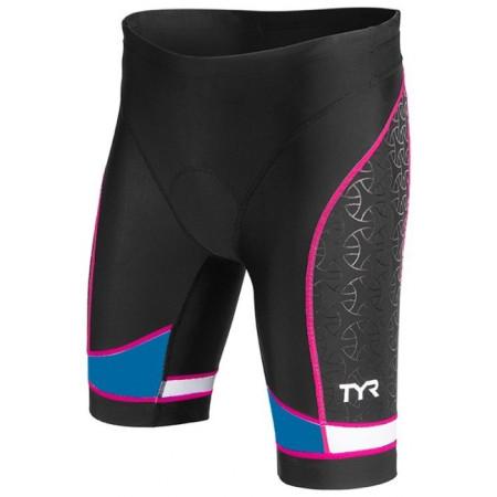 "Sort Triatlon Femei Tyr 8"" Trishort Black/Blue/Pink"