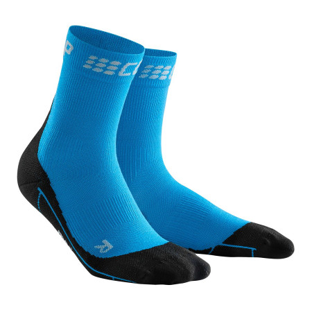 Sosete Alergare Merino Femei Cep Merino Winter Short Socks Electric Blue Black