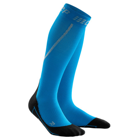 Sosete Compresie Alergare Barbati Cep Merino Winter Run Socks Electric Blue Black