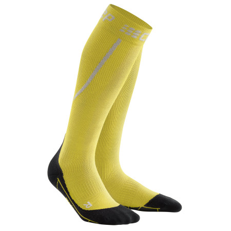 Sosete Compresie Alergare Barbati Cep Merino Winter Run Socks Yellow Black