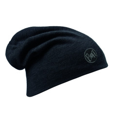 Caciula Buff Merino Wool Thermal Solid Black Caciula Buff Merino Wool Thermal Solid Black