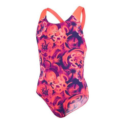 Costum baie Fete Speedo Allover Splash Back Mov / Rosu Costum baie Fete Speedo Allover Splash Back Mov / Rosu