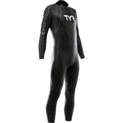 Costum Neopren Triatlon Barbati Tyr Hurricane Cat.2 Black/Grey